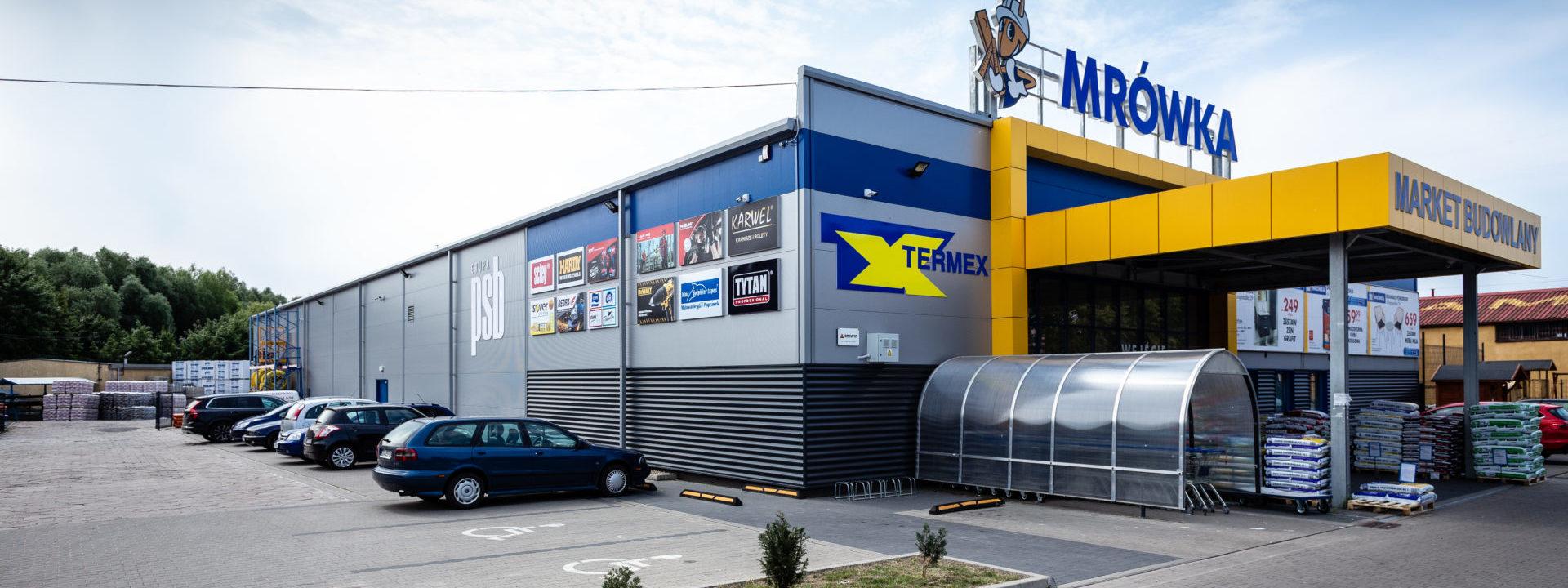 Realizacja 2016 - obiekt handlowy Termex w Drawsku Pomorskim w województwie pomorskim - budynek z zewnątrz